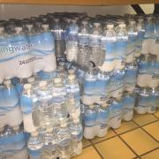 Image of water collected at the water drive.