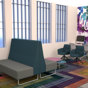 Student Lounge with furniture flipped