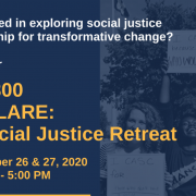 Flyer for the SW 300 Declare: A Social Justice Retreat course